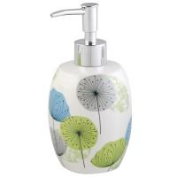 Dozator sapun lichid Volare AWD02190713, ceramica, model floral, 460 ml