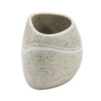 Pahar baie pentru igiena personala, Rock AWD02190723, ceramica, finisaj piatra, 8 x 6 x 8 cm