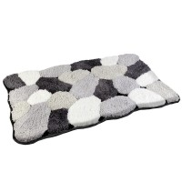 Covoras baie AWD02160779, gri / alb / negru, 80 x 50 cm