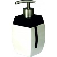 Dozator sapun lichid Bisk Zeppelin 00519, ceramica, alb / negru