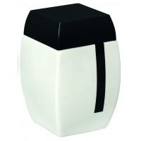 Pahar baie pentru igiena personala, Bisk Zeppelin 00517, ceramica, alb / negru