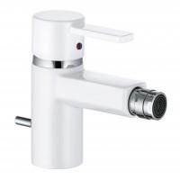 Baterie baie pentru bideu Kludi Zenta White 385309175, monocomanda, finisaj alb