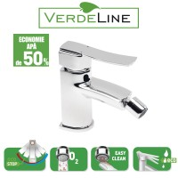 Baterie baie pentru bideu Ferro Veneto BVN6VL, cu ventil, monocomanda, finisaj cromat