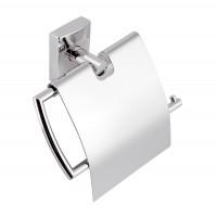 Suport pentru hartie igienica, Ferro Metalia 12 238.0, cu clapeta, cromat, 14.3 x 4.4 x 13.1 cm