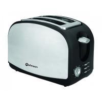 Prajitor de paine Rohnson R 207, 900 W, 2 felii, functie decongelare, functie reincalzire, 8 trepte putere, negru + argintiu
