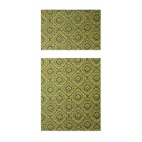 Covoras baie Deco Mat, verde, 65 x 45 / 90 cm, set 2 bucati