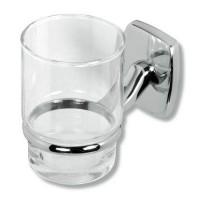 Pahar baie pentru igiena personala, cu suport, Ferro Orfeus 6906.0, sticla, prindere pe perete