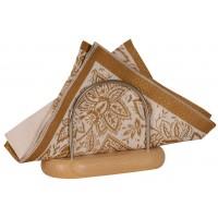 Suport bucatarie, pentru servetele, lemn, 13 x 6 x 10 cm
