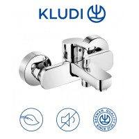 Baterie baie pentru cada / dus, Kludi Logo Neo 376810575, montaj aplicat, monocomanda, finisaj cromat