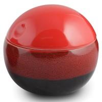 Suport dischete demachiante, Reds AWD02190988, ceramica, rosu / negru, 14.5 x 12 x 12.5 cm