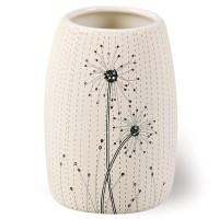 Pahar baie pentru igiena personala, Vento AWD02190921, ceramica, crem / negru, 10.9 x 7.6 x 7.6 cm