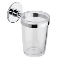 Pahar baie pentru igiena personala, cu suport, Wind 105C62100, sticla, autoadeziv, 11.7 x 7.3 x 10.5 cm