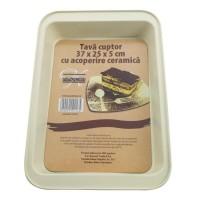 Tava pentru cuptor, Kasemi, cu acoperire ceramica, 37 x 25 x 5 cm