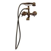 Baterie baie pentru cada / dus, Sydney Bronze BMY1107-3 + accesorii, montaj aplicat, dubla comanda, finisaj bronz