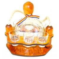 Suport pahare + sticla, 3460, din lemn, 23 x 15.5 x 21 cm
