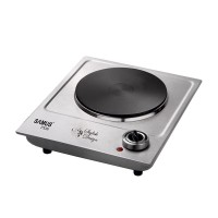 Plita electrica Samus PX101, 1500 W, 1 arzator, termostat reglabil, inox