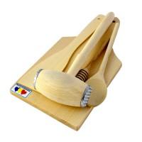 Tocator + accesorii 4001, lemn, 35 x 17 x 7 cm