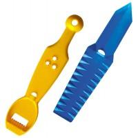 Decorator Profi, 2 in 1, 49015, plastic, galben + albastru, 8.5 x 4 cm