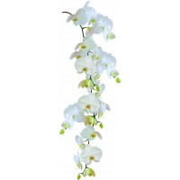 Autocolant pentru baie Kleine Wolke Orchid 34009, alb, 0.23 x 0.68 m