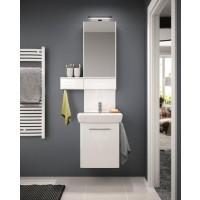 Masca baie + lavoar + dulap cu oglinda Kolo Nova Pro M39006 + 88431, cu usi, alb, 60 cm