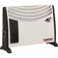 Convector electric Albatros CT-23 Turbo, 3 trepte, 2000 W, 583 x 110 x 375 mm, ventilator lateral