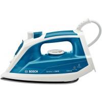 Fier de calcat Bosch TDA1023010, 2300 W, talpa ceramica Palladium Glissee, 0.30 l, 120 g/min, functie 3AntiCalc, alb cu albastru