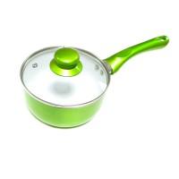 Tigaie Best Imp, ceramica, cu capac, verde, 16 cm