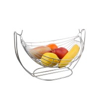 Cos de masa pentru fructe, KIC-0331A, din metal cromat, 28 x 19.3 x 18 cm