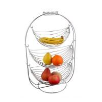 Cos de masa pentru fructe, KIC-0331B, din metal cromat, 36 x 27 x 54.5 cm