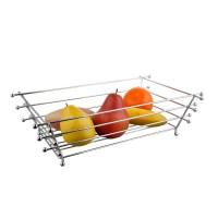 Cos de masa pentru fructe, KIC-0326A, din metal cromat, 40.5 x 25.5 x 11 cm