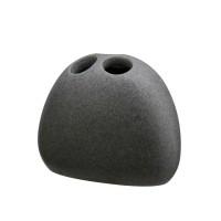 Suport periute dinti, Kadda Onda BPO-0284B, polirasina, antracit, 9.6 x 3 x 8.5 cm