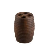 Suport periute dinti, Kadda Etnik BWO-0125B, finisaj lemn, 7.6 x 10.2 cm