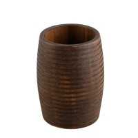 Pahar baie pentru igiena personala, Kadda Etnik BWO-0125C, finisaj lemn, 7.6 x 10.2 cm