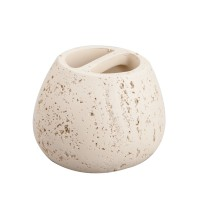 Suport periute dinti, Kadda Rock BPO-0573B, polirasina, finisaj piatra, 11 x 8.5 cm