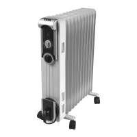 Radiator electric Zass ZR 11 SL, 3 trepte, 2500 W, 540 x 140 x 660 mm, 11 elementi, termostat reglabil
