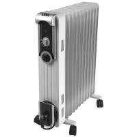 Radiator electric Zass ZR 13 SL, 3 trepte, 2500 W, 630 x 140 x 660 mm, 13 elementi, termostat reglabil