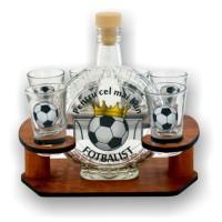 Suport pahare + sticla, 3515-9, din lemn, 21 x 18.5 x 15 cm