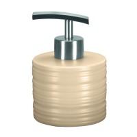 Dozator sapun lichid Kleine Wolke Sahara 34143, ceramica, bej perlat, 250 ml
