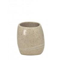 Pahar baie pentru igiena personala, Kleine Wolke Stones 34160, polirasina, finisaj piatra, 2 x 12.8 cm