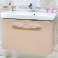 Masca baie pentru lavoar, Arthema Porto Plus, cu sertar, cappuccino, 80 x 44 x 50 cm