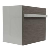 Masca baie pentru lavoar, Arthema Revo 60 361R-WL, cu sertare, alb + bambus, montaj suspendat, 56 x 43.8 x 55 cm