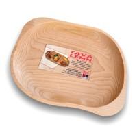 Tava asimetrica pentru servire, din lemn, 5288, , 31 x 24 cm