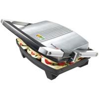 Sandwich maker Breville VST025X-01, 1000 W, placi neaderente, indicator luminos incalzire, inaltime reglabila, sistem de blocare, argintiu + negru