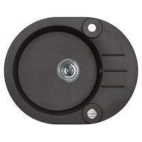 Chiuveta bucatarie compozit granital Alveus Roll 40 A91 carbon neagra cuva stanga / dreapta 59.5 x 47.5 cm