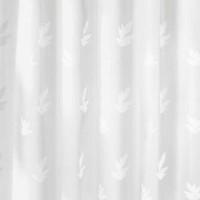 Perdea dus Kleine Wolke Canton 34173, model frunze, alb, 180 x 200 cm