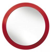 Oglinda cosmetica 34184 KW, cu ventuze, rosie, D 15.3 cm