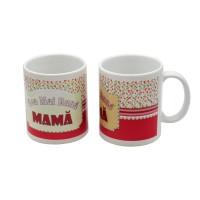 Cana cu mesaj Cea mai buna mama, ceramica, multicolor, 250 ml