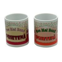 Cana cu mesaj Cea mai buna prietena, ceramica, multicolor, 250 ml