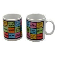 Cana cu mesaj Be positive, ceramica, multicolor, 250 ml