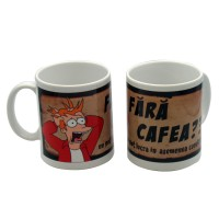 Cana cu mesaj Fara cafea, ceramica, multicolor, 250 ml